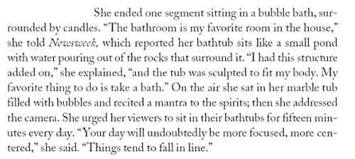 Oprah loves bubble baths - The Bath Tub Diva, Ritama Haaga
